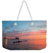 Charleston Harbor Sunset Weekender Tote Bag