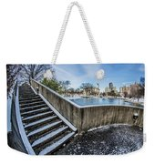 Charlotte North Carolina Marshall Park In Winter Weekender Tote Bag