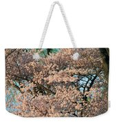 Cherry Blossoms In Pink And Brown Weekender Tote Bag
