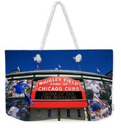Chicago Cubs - Wrigley Field Weekender Tote Bag by Frank Romeo