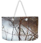 Chickadee On Woodvine Weekender Tote Bag