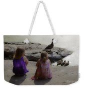 Children At The Pond 3 Weekender Tote Bag
