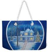 Christmas In Blue Weekender Tote Bag