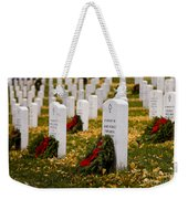 Christmas Wreaths Laid At The Arlington Cemetery Weekender Tote Bag