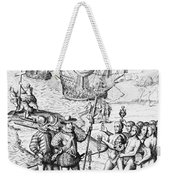 Christopher Columbus (1451-1506) Weekender Tote Bag