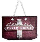 Chrysler Fluid Drive Emblem Weekender Tote Bag