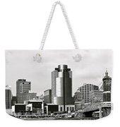 Cincinnati Black And White Panorama Weekender Tote Bag