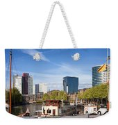 City Of Rotterdam In Netherlands Weekender Tote Bag