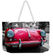 Classic Red P Sports Car Weekender Tote Bag