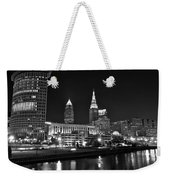 Cleveland In Black And White Weekender Tote Bag