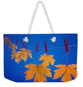 Close-up Of Fall Colored Maple Leaves Weekender Tote Bag