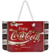 Coca Cola Signs Weekender Tote Bag