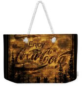 Coca Cola Wooden Sign Weekender Tote Bag