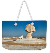 Cock And Mushroom Formation In White Desert Weekender Tote Bag