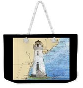 Cockspur Island Lighthouse Ga Nautical Chart Map Art Cathy Peek Weekender Tote Bag