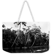 Coconut Trees And Other Plants In A Creek Weekender Tote Bag