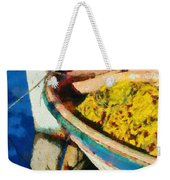 Colorful Boat Weekender Tote Bag