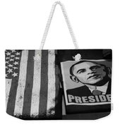 Commercialization Of The President Of The United States Of America In Black And White  Weekender Tote Bag by Rob Hans