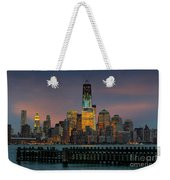 Construction Of The Freedom Tower Weekender Tote Bag