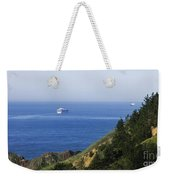 Container Ship On Open Water Weekender Tote Bag