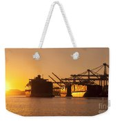 Container Ships Docked In Port Of Oakland Weekender Tote Bag