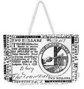 Continental Banknote, 1776 Weekender Tote Bag