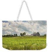 Corn Growing In Maine Farm Field Weekender Tote Bag