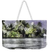 Cottage With Greenery All Around Weekender Tote Bag
