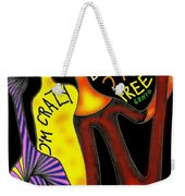 Crazy But Free Weekender Tote Bag