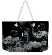 Crew Chief Sits In The Doorway Weekender Tote Bag