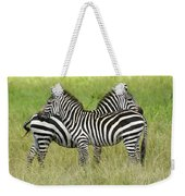 Crisscross Stripes Weekender Tote Bag