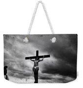 Crucifix And Landscape Weekender Tote Bag