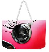 Cute Pink Car Weekender Tote Bag by Jasna Buncic