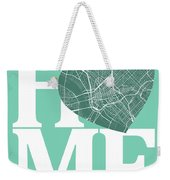 Dallas Street Map Home Heart - Dallas Texas Road Map In A Heart Weekender Tote Bag