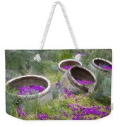 Desert Flowers Weekender Tote Bag by Joan Carroll
