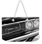 Dodge Challenger Rt Grille Emblem Weekender Tote Bag
