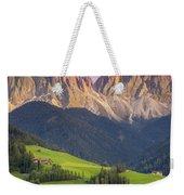 Dolomites From Val Di Funes Weekender Tote Bag