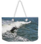 Dolphin Leap Weekender Tote Bag