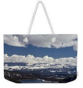 Donner Lake Donner Pass With Snow Weekender Tote Bag