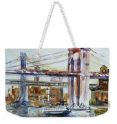 Downtown Bridge Weekender Tote Bag