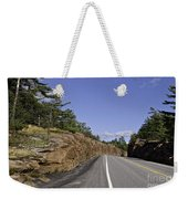Driving Through A Rock Cut Weekender Tote Bag