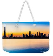 Dubai Skyline At Dusk Weekender Tote Bag