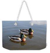 Ducks On Water Weekender Tote Bag