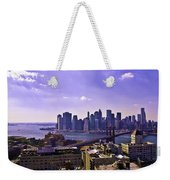 Dumbo View Of Lower Manhattan Weekender Tote Bag