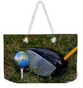 Earth Golf Ball And Golf Club Weekender Tote Bag