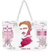 electric generator patent art Nikola Tesla Weekender Tote Bag