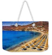 Elia Beach In Mykonos Island Weekender Tote Bag