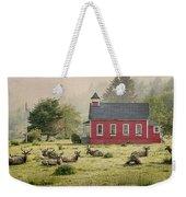 Elk In The School Yard Weekender Tote Bag
