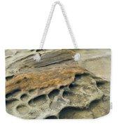 Eroded Sandstone Cliff Along The Ocean Weekender Tote Bag