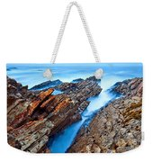 Eternal Tides - The Strange Jagged Rocks And Cliffs Of Montana De Oro State Park In California Weekender Tote Bag